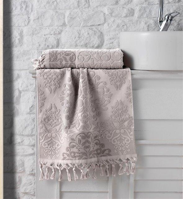 Полотенце для ванной Karna OTTOMAN хлопковая махра капучино 40*60, фото, фотография