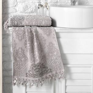 Полотенце для ванной Karna OTTOMAN хлопковая махра кофейный 50х90
