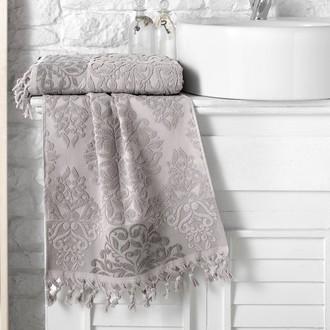 Полотенце для ванной Karna OTTOMAN хлопковая махра кофейный
