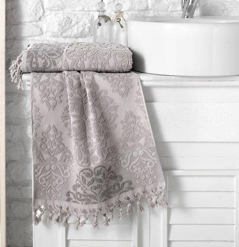 Полотенце для ванной Karna OTTOMAN хлопковая махра кофейный 70х140, фото, фотография