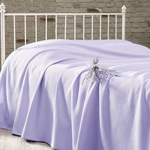 Вафельная простыня-покрывало для укрывания пике Karna RAINBOW хлопок светло-сиреневый 200х230