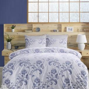 Постельное белье Altinbasak LUCIAN хлопковый ранфорс голубой 1,5 спальный