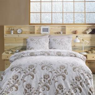 Постельное белье Altinbasak LUCIAN хлопковый ранфорс коричневый 1,5 спальный