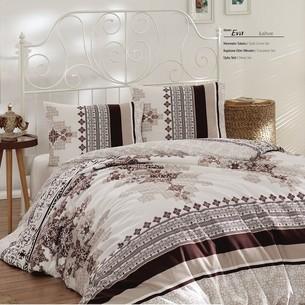 Постельное белье Altinbasak EVA хлопковый ранфорс коричневый 1,5 спальный