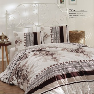 Комплект постельного белья Altinbasak EVA хлопковый ранфорс (коричневый)
