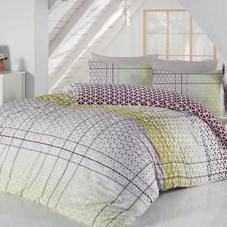 Комплект постельного белья Altinbasak SAYE хлопковый ранфорс (зелёный)