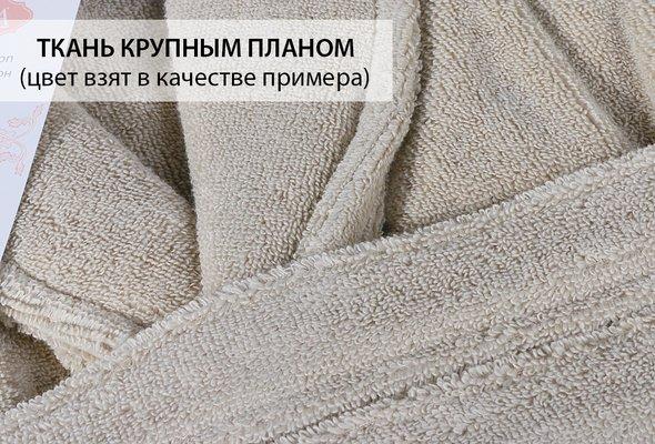 Халат Karna MORA хлопковый микрокоттон кремовый 2XL, фото, фотография