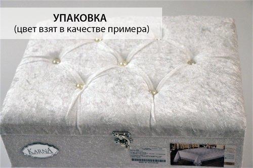 Скатерть прямоугольная Karna JAZEL жаккард серый 170х300, фото, фотография