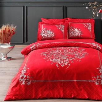 Комплект постельного белья TAC DELUX CLARICE хлопковый сатин deluxe (красный)