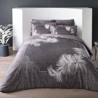 Комплект постельного белья TAC DELUX FLEMING хлопковый сатин deluxe (серый)