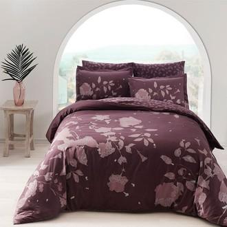 Комплект постельного белья TAC DELUX SHERLY хлопковый сатин deluxe (фиолетовый)