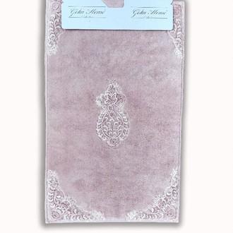 Набор ковриков Gelin Home HANZADE хлопковая махра (грязно-розовый)