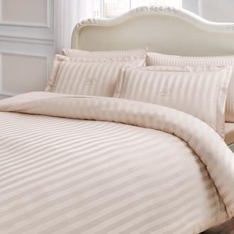 Комплект постельного белья Tivolyo Home NEW JACQUARD бамбуковый сатин-жаккард (бежевый)