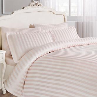 Комплект постельного белья Tivolyo Home NEW JACQUARD бамбуковый сатин-жаккард (пудра)
