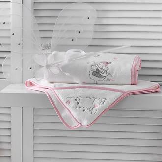 Подарочный набор детских полотенец Tivolyo Home MISS BALLERINA хлопковая махра 50х90, 70х130