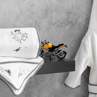 Подарочный набор детских полотенец Tivolyo Home PIRATES хлопковая махра 50х90, 70х130