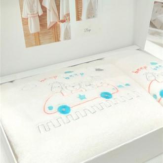 Подарочный набор детских полотенец Tivolyo Home BEEP хлопковая махра 50х90, 70х130