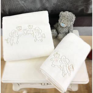 Подарочный набор детских полотенец Tivolyo Home FAMILY хлопковая махра 50х90, 70х130 бежевый