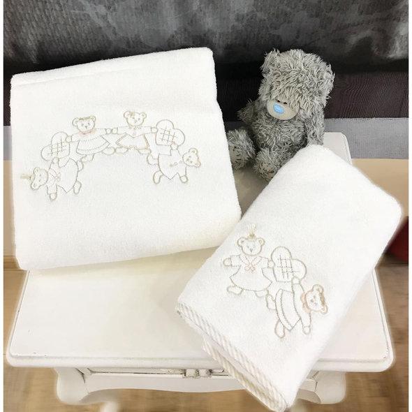 Подарочный набор детских полотенец Tivolyo Home FAMILY хлопковая махра 50*90, 70*130 (бежевый), фото, фотография