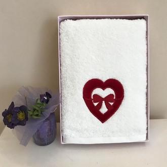 Полотенце для ванной Tivolyo Home LOVE BOW хлопковая махра