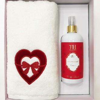 Полотенце для ванной и ароматический спрей Tivolyo Home LOVE BOW хлопковая махра