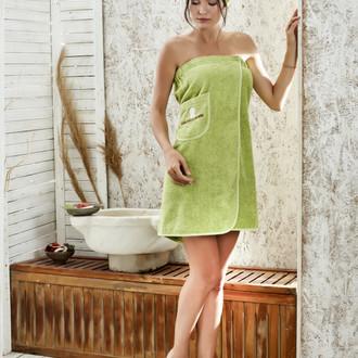 Набор для сауны женский Karna PARIS хлопковая махра (зелёный)