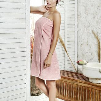 Набор для сауны женский Karna PARIS хлопковая махра (коралловый)