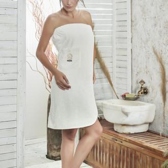Набор для сауны женский Karna PARIS хлопковая махра кремовый