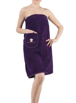 Набор для сауны женский Karna PARIS хлопковая махра фиолетовый