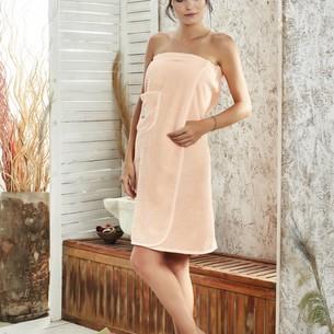 Набор для сауны женский Karna PARIS хлопковая махра абрикосовый