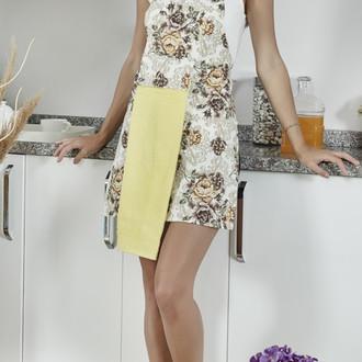 Фартук с полотенем Karna DELFIN (светло-жёлтый)