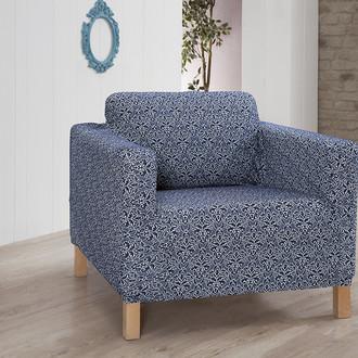 Чехол на кресло Karna VERONA трикотаж синий