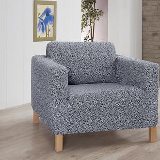 Чехол на кресло Karna VERONA трикотаж (серый)