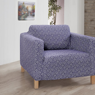 Чехол на кресло Karna VERONA трикотаж (светло-лавандовый)