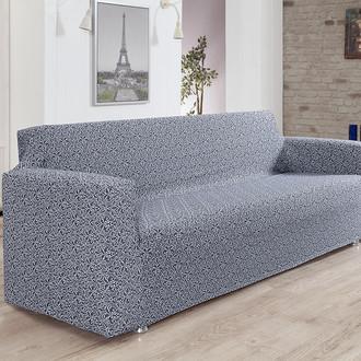 Чехол на диван Karna VERONA трикотаж (серый)