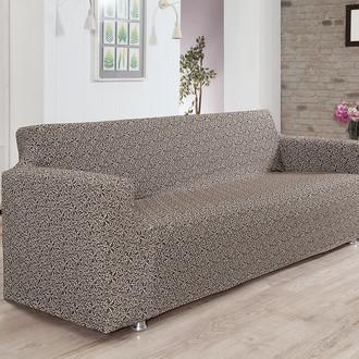 Чехол на диван Karna VERONA трикотаж коричневый