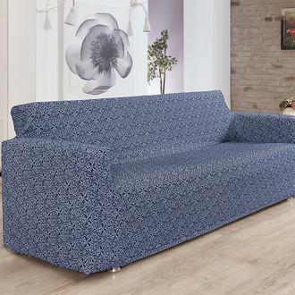 Чехол на диван Karna VERONA трикотаж (синий)