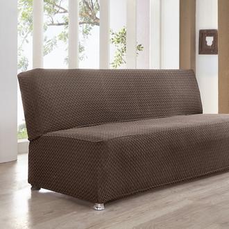 Чехол на диван Karna PALERMO трикотаж тёмно-коричневый