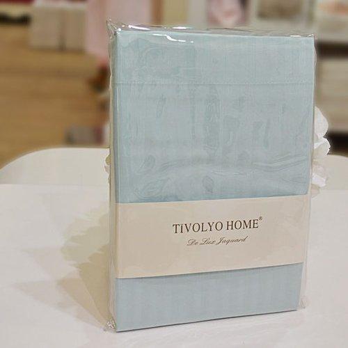 Простынь с наволочками Tivolyo Home хлопковый сатин делюкс бирюзовый 240х260, фото, фотография