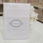 Простынь с наволочками Tivolyo Home хлопковый сатин делюкс белый 180х260, фото, фотография