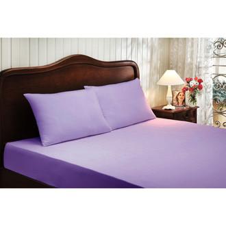 Простынь с наволочками Tivolyo Home хлопковый сатин делюкс (фиолетовый)