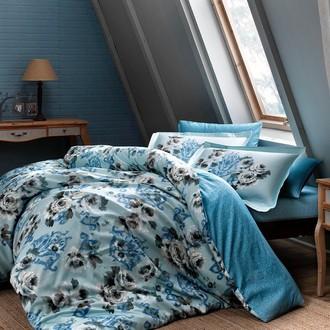 Комплект постельного белья TAC PREMIUM DIGITAL BAROCK хлопковый сатин deluxe (голубой)