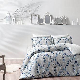 Комплект постельного белья TAC PREMIUM DIGITAL DEANA хлопковый сатин deluxe (голубой)