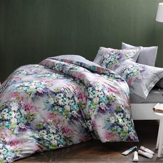 Комплект постельного белья TAC PREMIUM DIGITAL DELFT хлопковый сатин deluxe (лиловый)