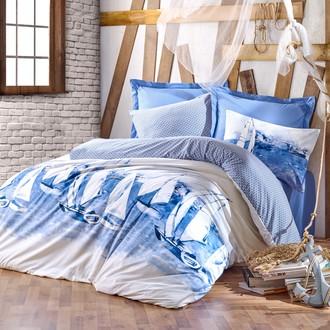 Постельное белье Cotton Box MARITIME PUSLA хлопковый ранфорс (синий)
