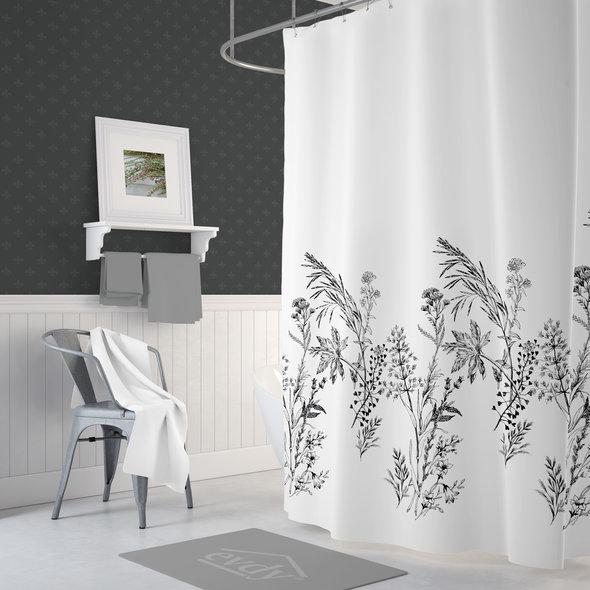 Штора для ванной Evdy DROP полиэстер (V21) 180*200, фото, фотография