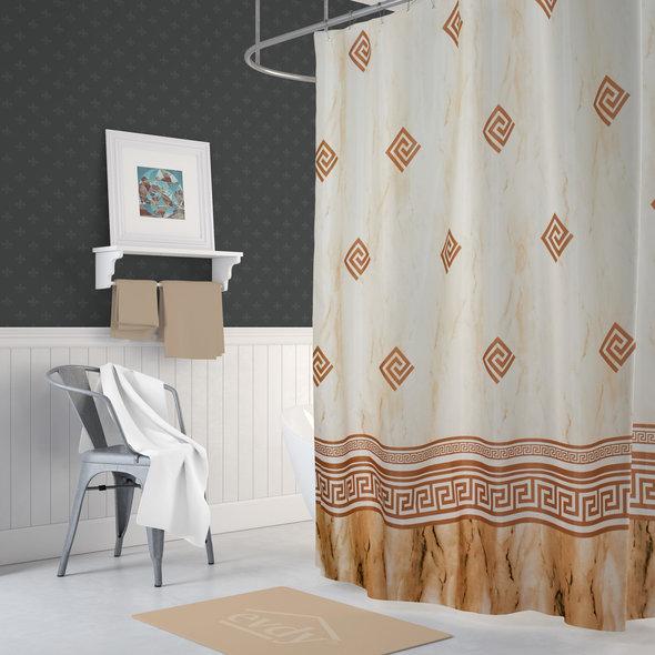 Штора для ванной Evdy DROP полиэстер (V23) 180*200, фото, фотография