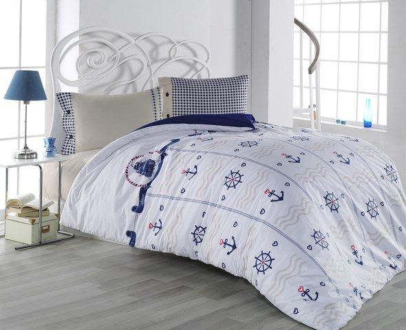 Комплект постельного белья подростковый Altinbasak DORIS хлопковый ранфорс 1,5 спальный, фото, фотография