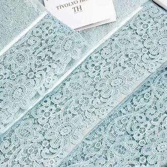 Набор полотенец для ванной в подарочной упаковке 30*50(3) Tivolyo Home FORZA хлопковая махра (бирюзовый)