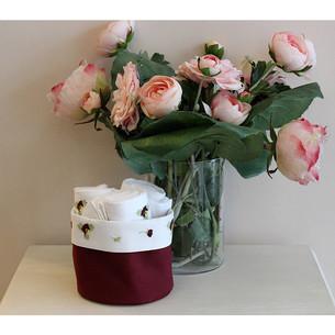Набор кухонных полотенец 3 шт. Tivolyo Home VIOLET хлопковая вафля бордовый